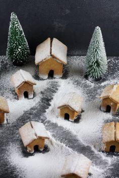Dorf aus Lebkuchenhäusern, ginger bread house