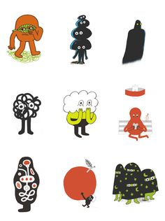 Doodles from Swedish Mid-Century designer Olle Eksell