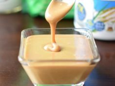 Instant Dairy-Free Sweetened Condensed Milk Alternative----Blender instant made with rice milk powder, sweetener, coconut oil, vanilla and water. Vegan Sweets, Vegan Desserts, Dessert Recipes, Lait Vegan, Condensed Milk Recipes, Lactose Free Recipes, Vegan Recipes, Milk Alternatives, Rice Milk