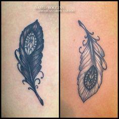 yin yang feather tattoo - Google Search
