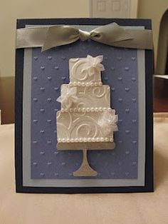 """Another version of the """"wedding cake"""" card.  Wedding Card"""