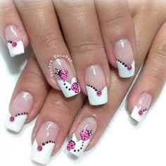 French Nail Designs, Toe Nail Designs, Nail Polish Designs, Cute Nails, Pretty Nails, My Nails, Nail Pictures, Butterfly Nail, Spring Nail Art