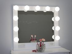 Shop a great selection of White 32 X Hollywood Style Lighted Vanity Makeup Mirror. Find new offer and Similar products for White 32 X Hollywood Style Lighted Vanity Makeup Mirror. White Vanity Mirror, Lighted Vanity Mirror, Makeup Vanity Mirror, Makeup Mirror With Lights, Silver Vanity, Vanity Mirrors, Bulb Mirror, Mirror Kit, Ikea Vanity