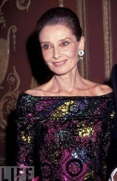 God...please let me age as gracefully as Audrey Hepburn.   She was classy inside and out.