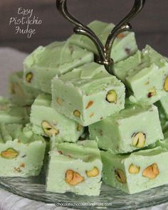 Pistachio Fudge-rich, creamy fudge, takes just minutes to make!
