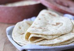 Homemade Flour Tortillas  makes twelve 7-inch tortillas or six 10-inch burrito size tortillas