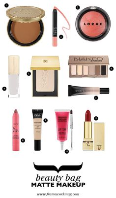 Beauty Bag: Matte Makeup inspired by the Fall 2013 runways