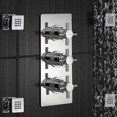 Hudson Reed Kristal Triple Concealed Shower Valve