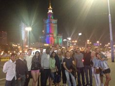 Warsaw - Poland: A group photo of IAESTE trainees in front of Palace of Culture and Science. Christina loved every moment of her IAESTE experience thanks to IAESTE Poland :)