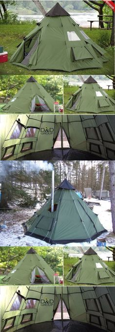 Tents 179010: Teepee Tent 6 Person Family Camping Military Hiking Outdoor Survival Green New -> BUY IT NOW ONLY: $136.64 on eBay! #familysurvival
