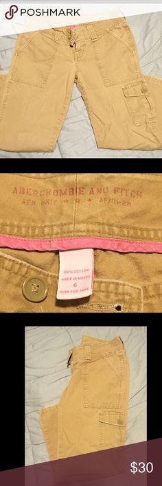 Abercrombie & Fitch Capri Military Style Pants 6 Abercrombie & Fitch Women's Military Style Capri Pants, Beige, Size 6. Very Nice Pants, barely worn. Make an Offer. Abercrombie & Fitch Pants Capris