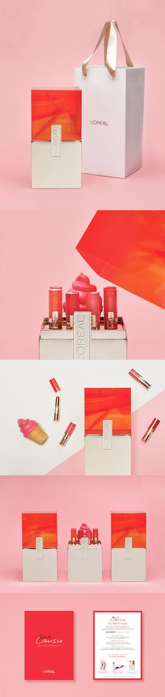 LOREAL PARIS-BALM CARESSE MELTING TINT PRESS KIT cosmetics packaging design