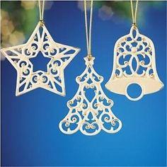 Lenox-Holly-Jolly-Christmas-Pierced-Ornaments-set-of-3-Porcelain-and-Gold-NIB
