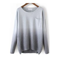 Color Block Grey Casual Acrylic Pullovers Loose Round Neck Long Sleeve Fall Sweaters, Bust(cm): 96cm Shoulder(cm): 48cm Size Available: one-size Sleeve Length(…