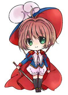 Sakura from cardcaptor sakura Kawaii Chibi, Cute Chibi, Anime Chibi, Kawaii Anime, Anime Manga, Kero Sakura, Cardcaptor Sakura, Chibi Characters, Cute Characters