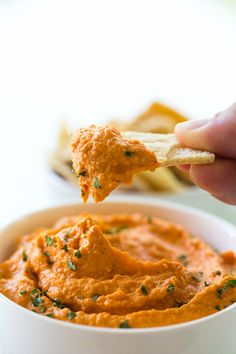 Roasted Red Pepper Hummus.