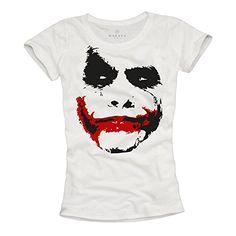 Camiseta Joker Mujer - Batman Negra S #camiseta #realidadaumentada #ideas #regalo