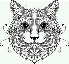 cat zentangle coloring page - Animal Coloring Pages Printable