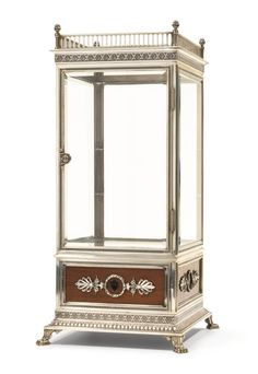 A rare Fabergé silver and wood vitrine, workmaster Julius Rappoport, St Petersburg, late 19th century | Lot | Sotheby's