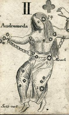 II. Andromeda. Astronomical card - 1676