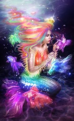 Beautiful mermaids pictures - Hot sexy mermaid pictures posts beautiful mermaid art from many different mermaid artists. Real Mermaids, Fantasy Mermaids, Mermaids And Mermen, Pretty Mermaids, Unicorn Fantasy, Fantasy World, Fantasy Art, Elfen Fantasy, Mermaid Fairy