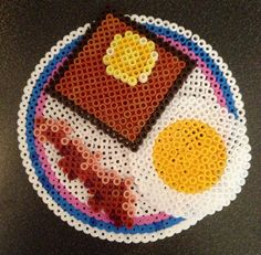 Breakfast hama perler beads By Alice - Vickan