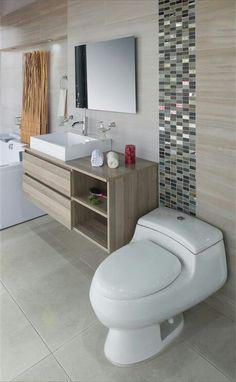 Ver: Paredes y azulejos - Best Pins Live Bathroom Renos, Bathroom Layout, Bathroom Renovations, Bathroom Furniture, Bathroom Interior, Modern Bathroom, Small Bathroom, Bad Inspiration, Bathroom Inspiration
