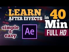Learn Adobe After Effects in Just 40 Minutes! (U R GREAT CT) Simple and Easy Training! - YouTube