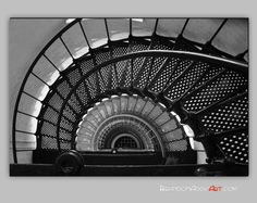 Spiral Staircase Photo Black and White by BrandonAddisArt on Etsy