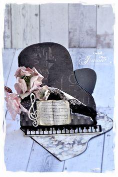 Jiwon's Magnolia Blog: Triangle easel piano card [DooHickeyBOX Vol 19. mu...