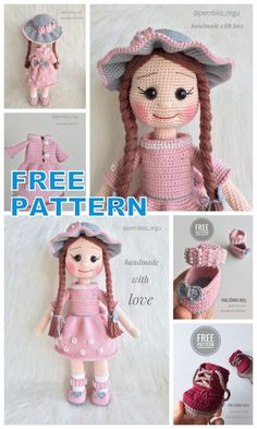 We continue to provide you with the latest recipes related to Amigurumi. Amigurumi doll zühre free crochet pattern is waiting for you. Crochet Amigurumi Free Patterns, Crochet Doll Pattern, Crochet Yarn, Free Crochet, Crochet Doll Clothes, Doll Tutorial, Little Doll, Amigurumi Doll, Doll Patterns