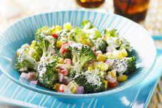 Caribbean Corn and Broccoli Salad Corn Salads, Broccoli Salad, Summer Salads, Soup And Salad, Salad Recipes, Potato Salad, Vegetarian Recipes, Fresh, Meals