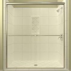 Arizona Shower Door Euro 68-In To 72-In W X 70.375-In H Chrome Sliding