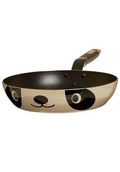 Frying Pan-da in Mama Bear - Panda pan, Modcloth Cute Kitchen, Kitchen Items, Kitchen Gadgets, Vintage Kitchen, Retro Vintage, Kitchen Decor, Kitchen Stuff, Kitchen Dining, Kitchen Tools