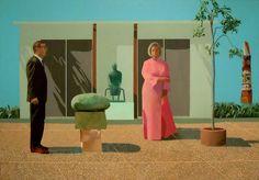 David Hockney, Fred and Marcia Weisman.  Sadly, they split.