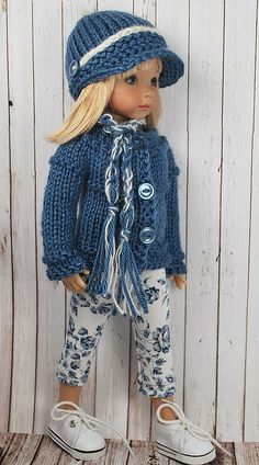 Little Darling doll - Dianna Effner Sewing Doll Clothes, American Doll Clothes, Crochet Doll Clothes, Knitted Dolls, Girl Doll Clothes, Doll Clothes Patterns, Crochet Dolls, Clothing Patterns, Girl Dolls