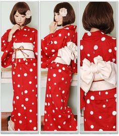 赤ドット浴衣