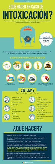 ¿Qué hacer en caso de intoxicación? #infografia