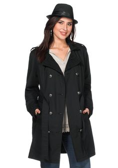 sheego Style Trenchcoat - schwarz | Damenmode online kaufen
