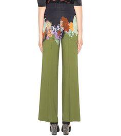 Printed Wide-Legged Trousers   Dries Van Noten - mytheresa.com