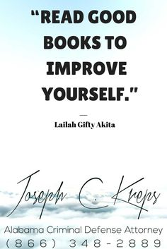 """#Andalusia #Alabama #Criminal #Defense #Attorney - Call Kreps today with help on your Andalusia Criminal #Charge.   """"Read good books to improve yourself."""" ― Lailah Gifty Akita  https://www.krepslawfirm.com/2017/08/16/andalusia-alabama-criminal-defense-attorney-3/ - #KLF"""