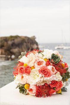 Beachy bouquet captured by MoHa Photography. #wchappyhour #weddingchicks http://www.weddingchicks.com/2014/07/18/wedding-chicks-happy-hour-29/
