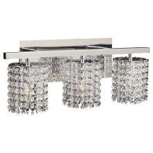 Three Light Crystal Bathroom Vanity Light Fixture from the Rigga Collection
