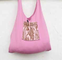 Reusable Grocery Bag Compact Stretchy Pink Camo by WildPlumTree, $7.00