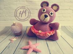 Knitted Teddy Bear, Teddy Bear Toys, Crochet Bear, Crochet Gifts, Eco Friendly Toys, Bear Cubs, Forest Animals, Gifts For Kids, Etsy