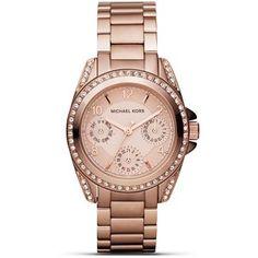 MICHAEL Michael Kors Round Rose Gold Glitz Sport Watch, 33 mm
