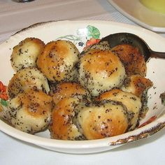 Bobalki are a Slovak bread treat. These small bread balls have a light and airy crumb and can be served sweet with poppyseeds and honey or savory with sauerkraut and onion.