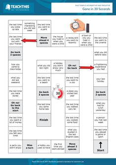 ESL Past Simple Board Game - Speaking Activity - Pre-intermediate - 30 minutes This entertaining past simple game helps students to utilize their knowledge of the past simple to talk about a variety of everyday topics.