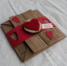 Eine Hochzeit – dreimal Geldgeschenk | Caros Bastelbude, Card Box, Geldgeschenk, Stemeplsets Hardwood, Bildlich gesprochen & Etwas ganz Besonderes von Stampin' Up!, Tutorial