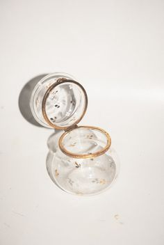 Vintage clear  glass vase trinket holder ink by Lilacwinevintage, $20.00
